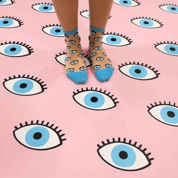 Eyes Transparent Socks