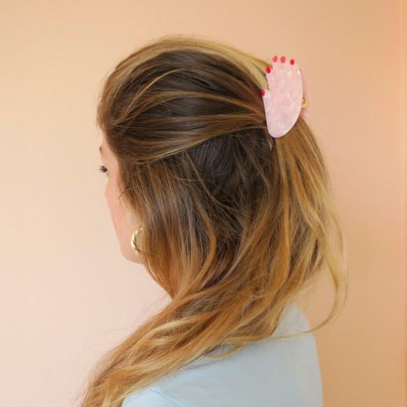 Pince à cheveux Main - Blanche