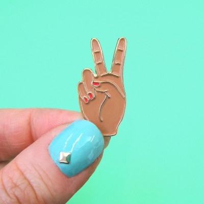 Black Peace Out Pin