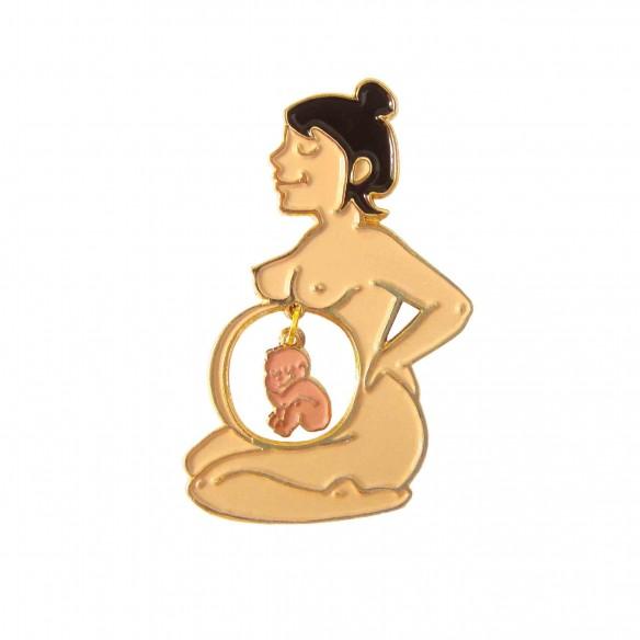 White Mom & Mixed Baby Pin
