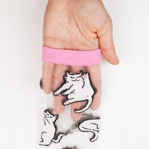 Cats Transparent Socks