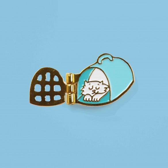Cat travel cart Pin