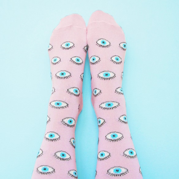 Glittery Eyes Socks