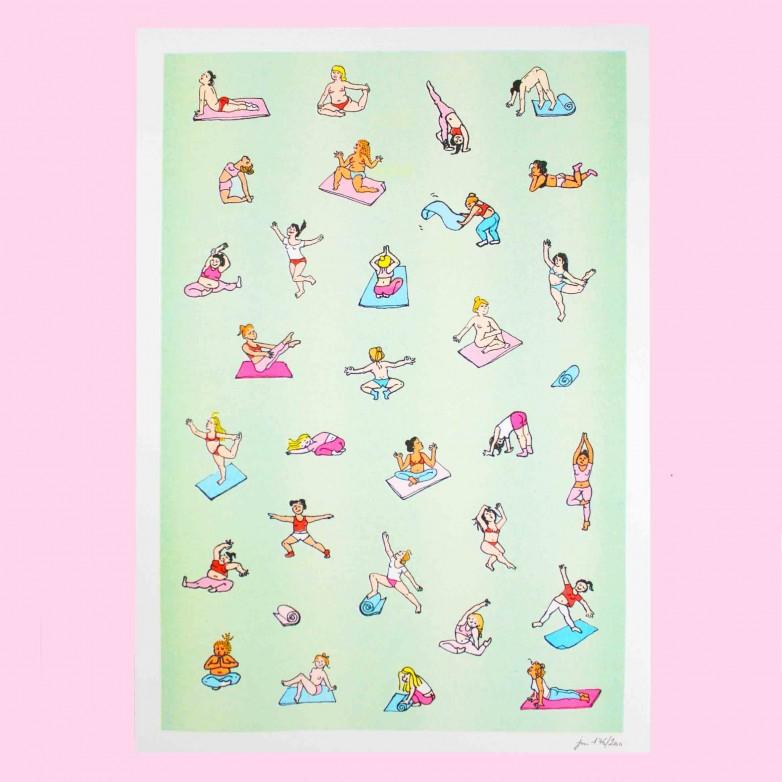 Affiche Yoga - Risographie A3