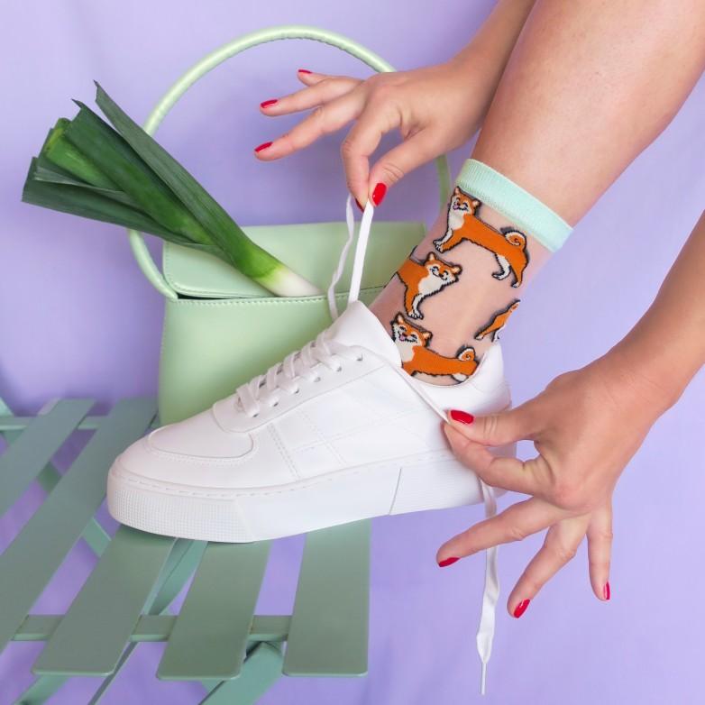 Shiba Sheer Socks