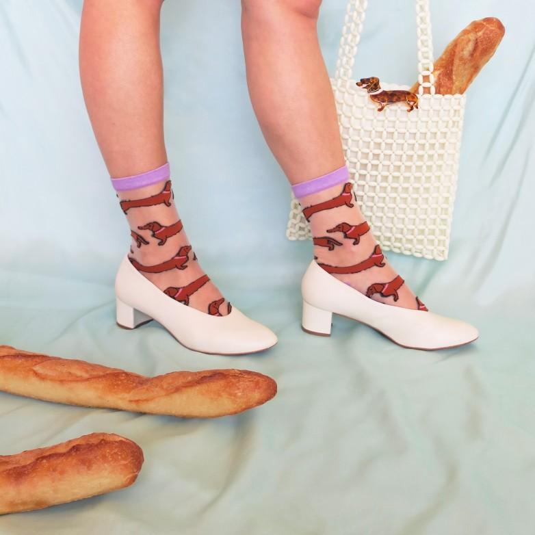 Dachshund Sheer Socks