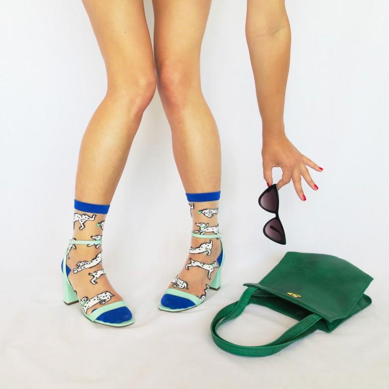 Dalmatian Sheer Socks