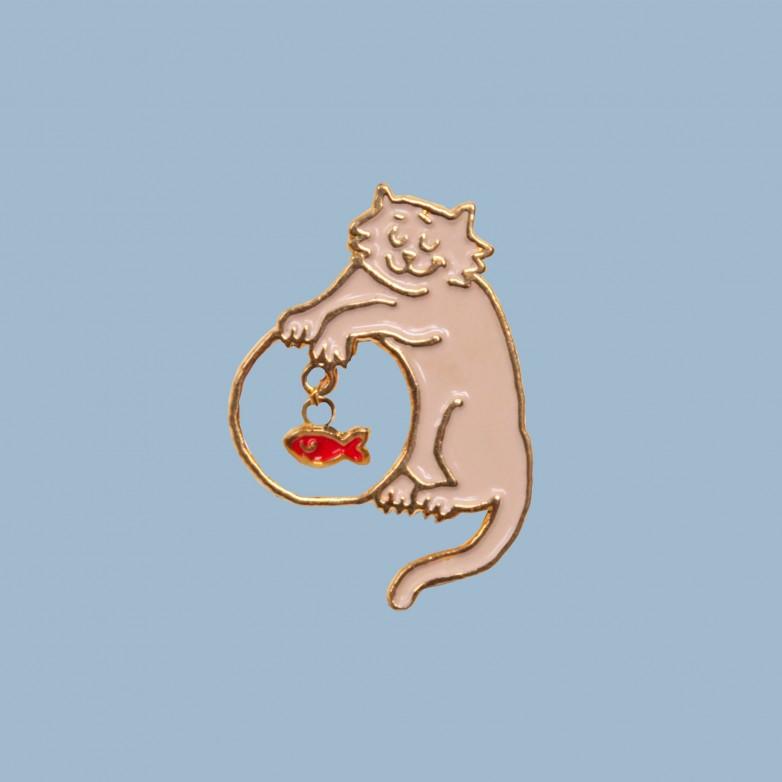Mischievous Cat Pin