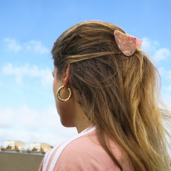 Pince à cheveux Sein - Blanche