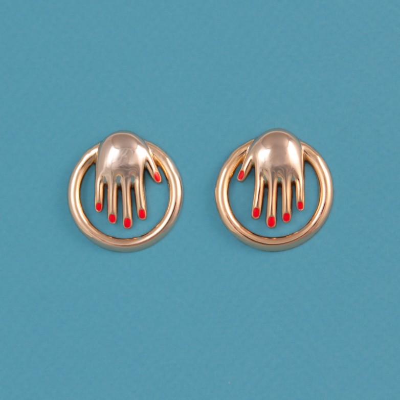 Hands Hoops Earrings