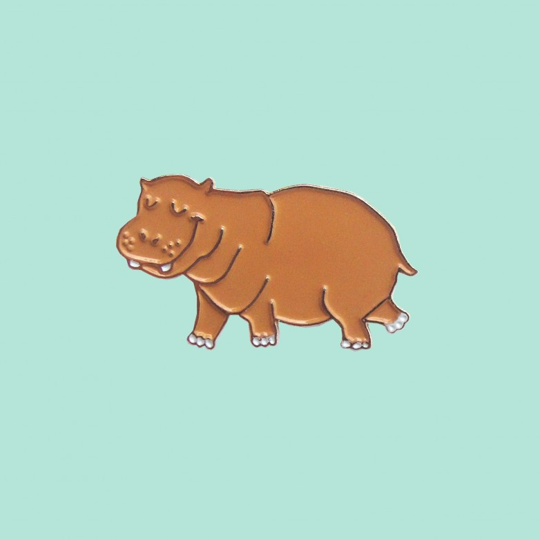 Hippopotamus Pin - Rewild