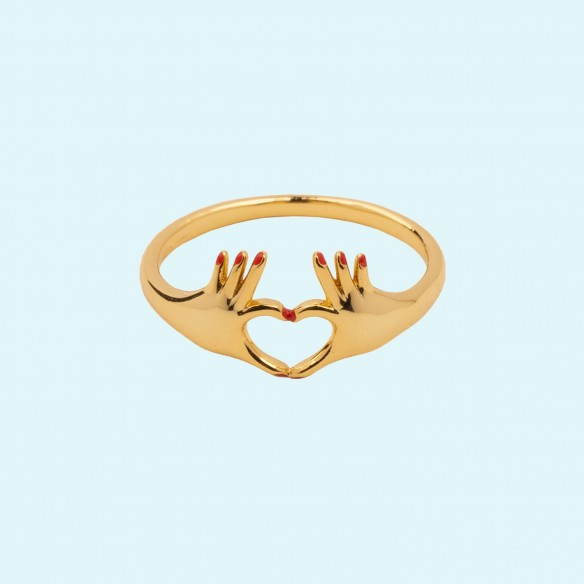 Love ring gold plating