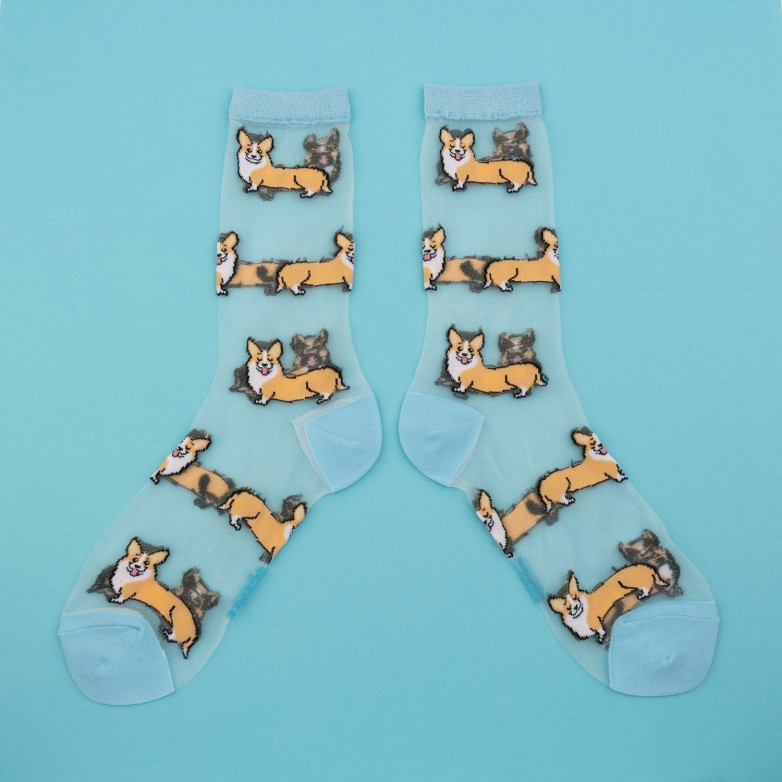 Corgi sheer socks