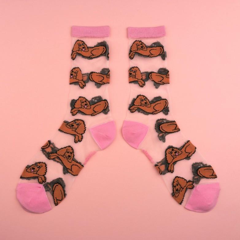cocker sheer socks