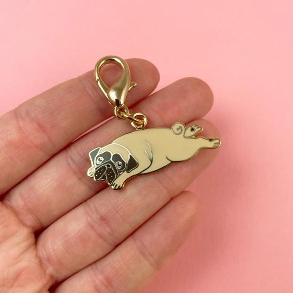 Pug key ring coucou suzette