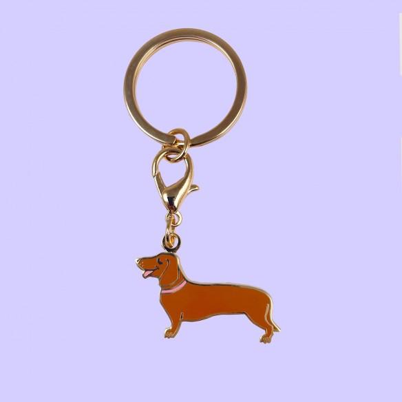 Dachshund key ring coucou suzette