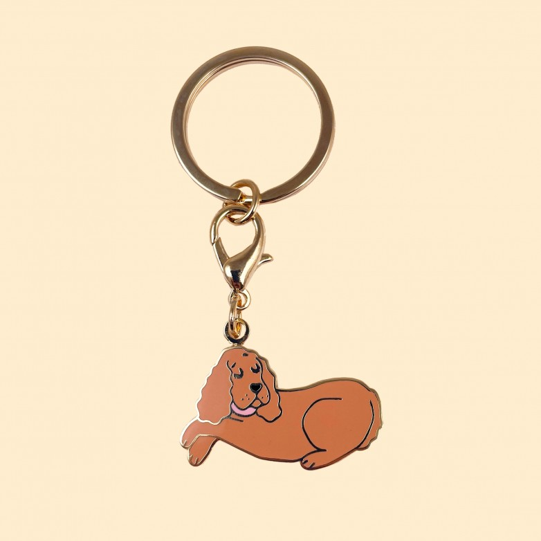 cokcer key ring and dog collar medal coucou suzette