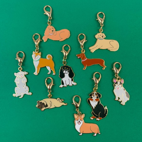 Key ring and medal Labrador coucou suzette