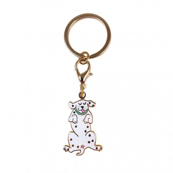 Dalmatian key ring coucou suzette