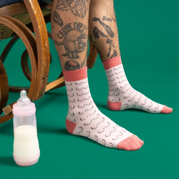 Chaussettes Seins - Blanches