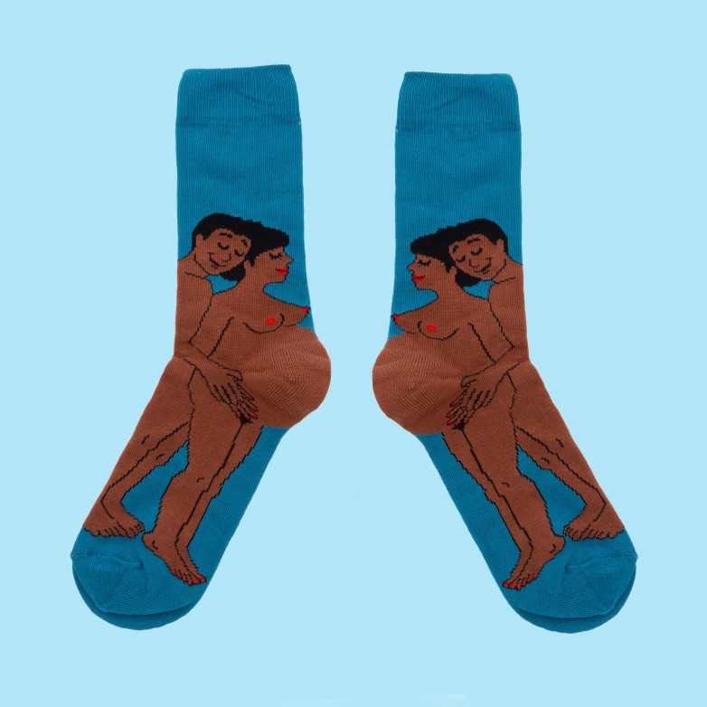 Parents Socks - Black Mom and Dad