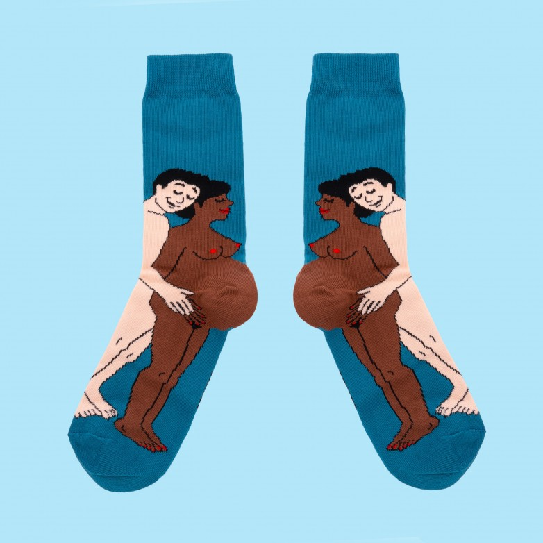 Parents Socks - Black Mom and White Dad