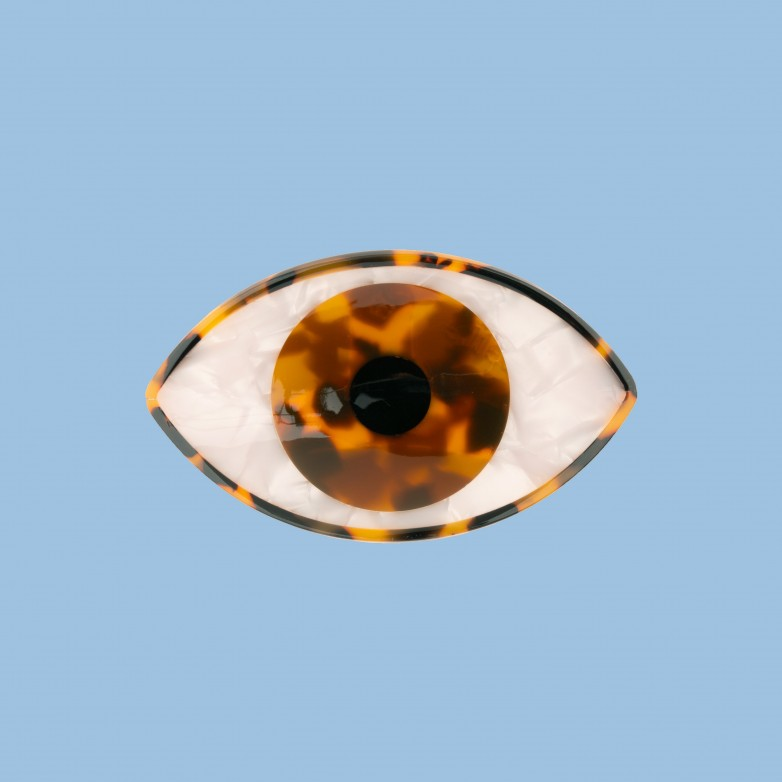 Eye Hair Claw - Brown
