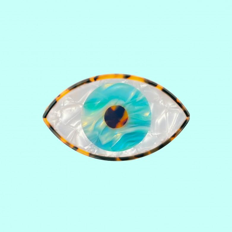 Eye Hair Claw - Blue