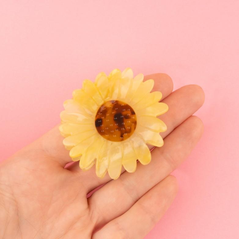 Sunflower Hair Claw