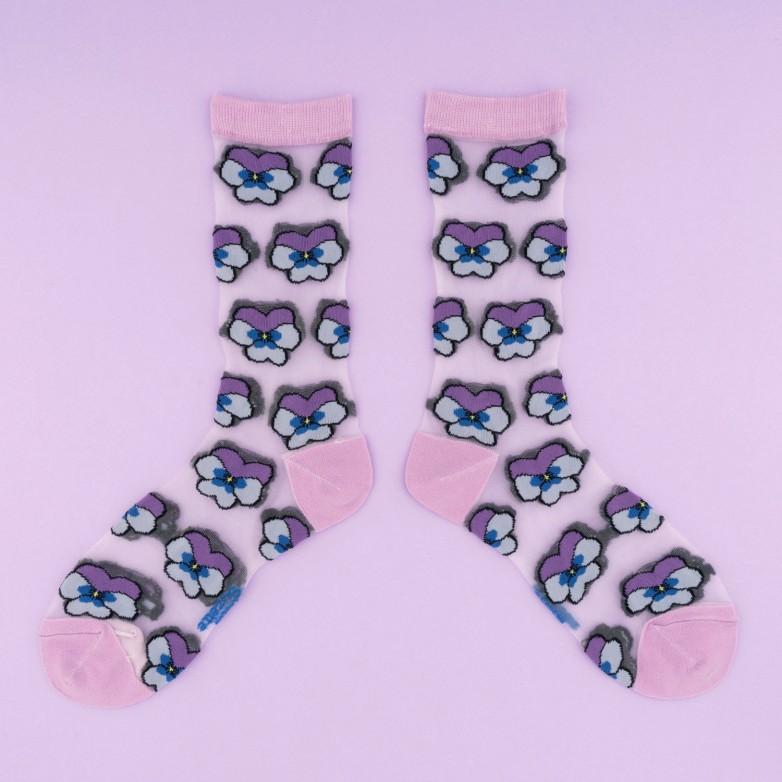 Pansy Sheer Socks