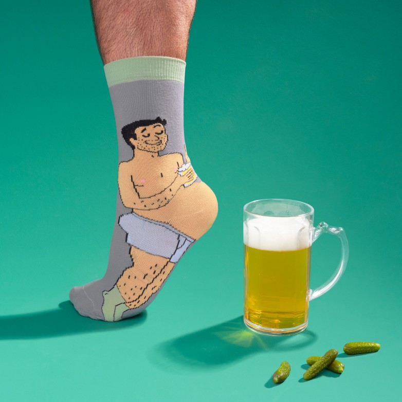 Beer Belly Socks - Black