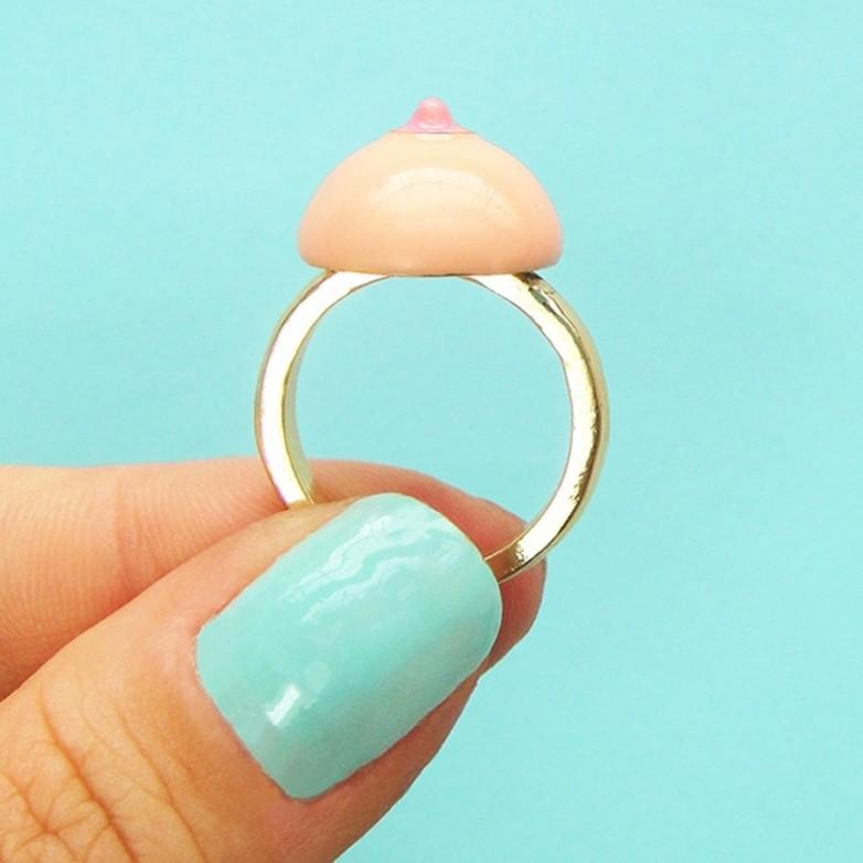 Boob Ring - White