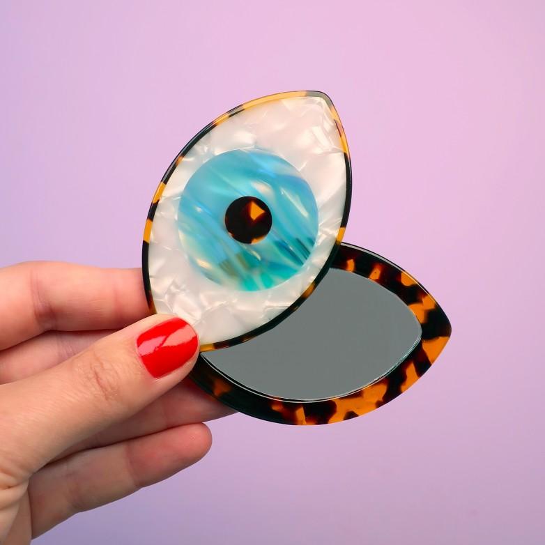 Miroir Oeil - Bleu